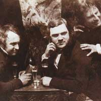 The Earliest Known Photo of Men Drinking Beer