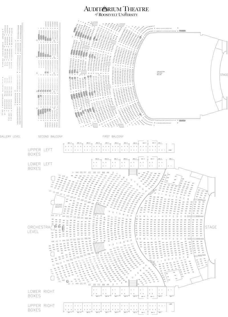Auditorium theatre seating chart theatre in chicago