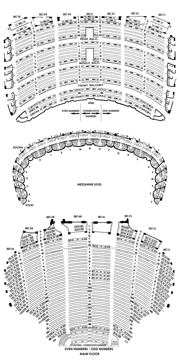 Chicago Theatre Seating Chart