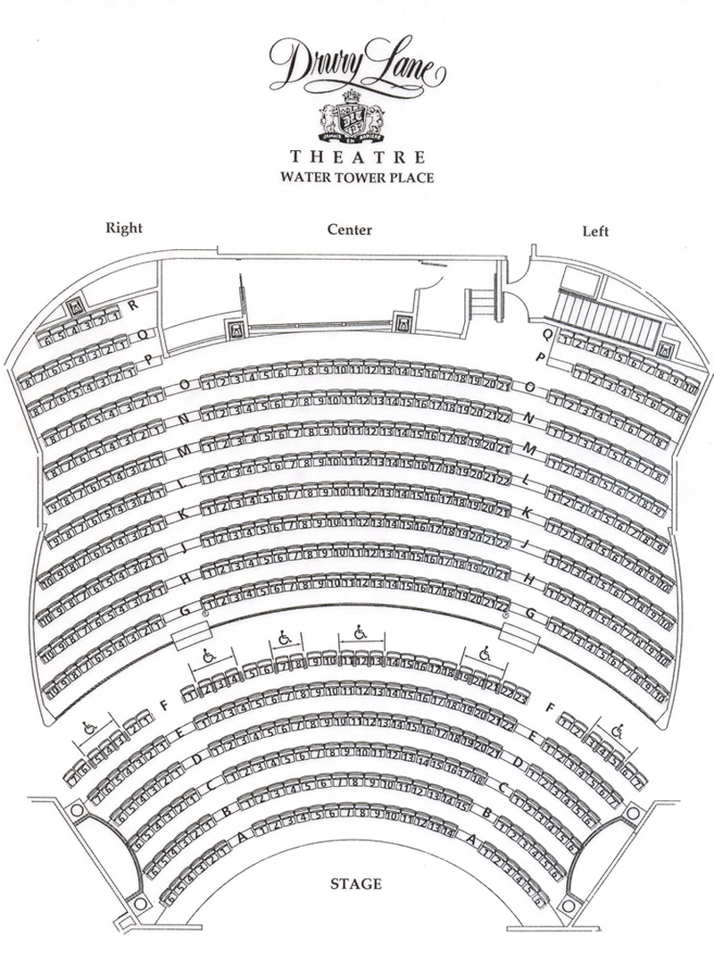 Drury lane water tower seating chart theatre in chicago for Broadway plan
