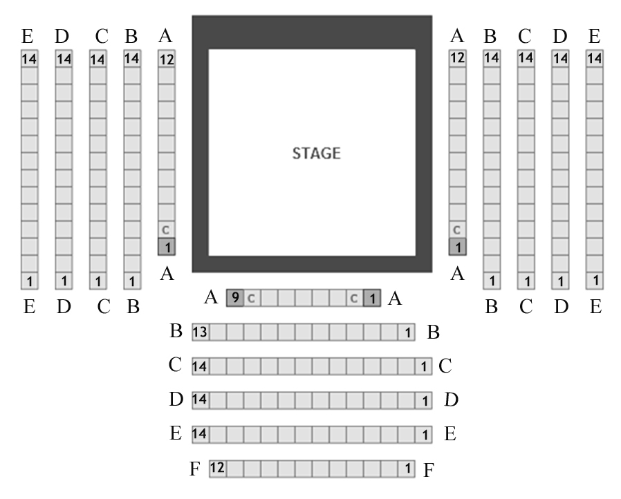 Greenhouse Theater Upstairs Mainstage Seating Chart