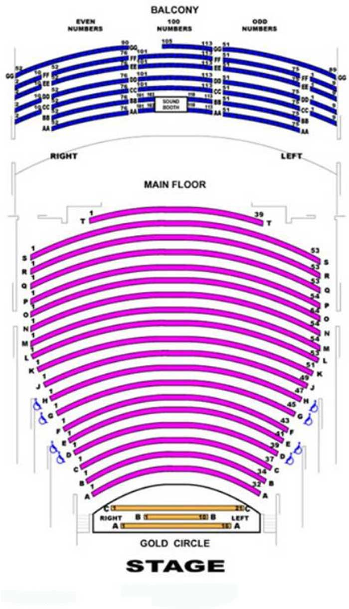 Hemmens Cultural Center Seating Chart
