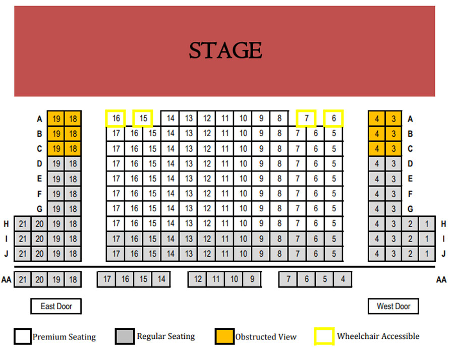 Lookingglass Theatre Seating Chart