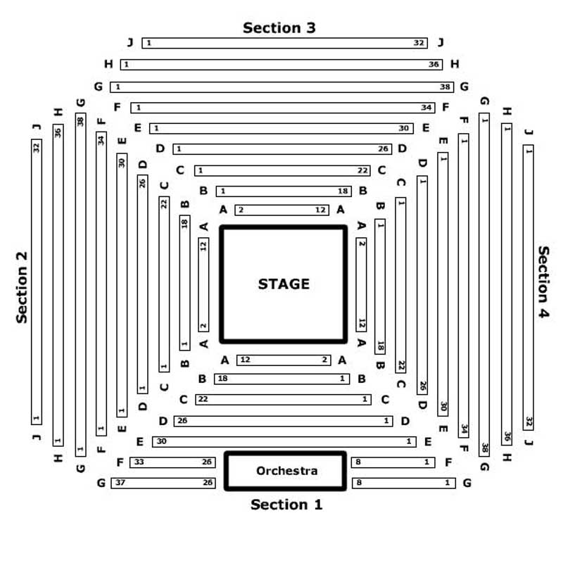 Marriot Seating Chart - Theatre In Chicago