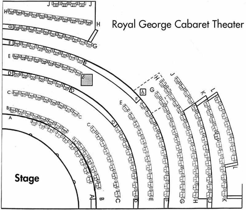 Royal George Cabaret Seating Chart