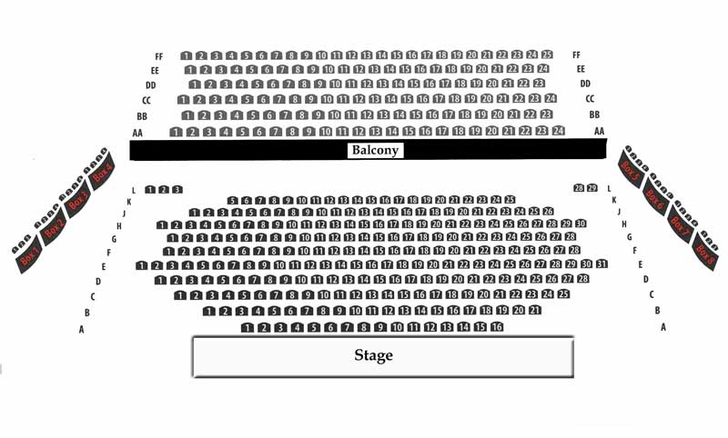 Royal George Theatre Main Stage Seating Chart