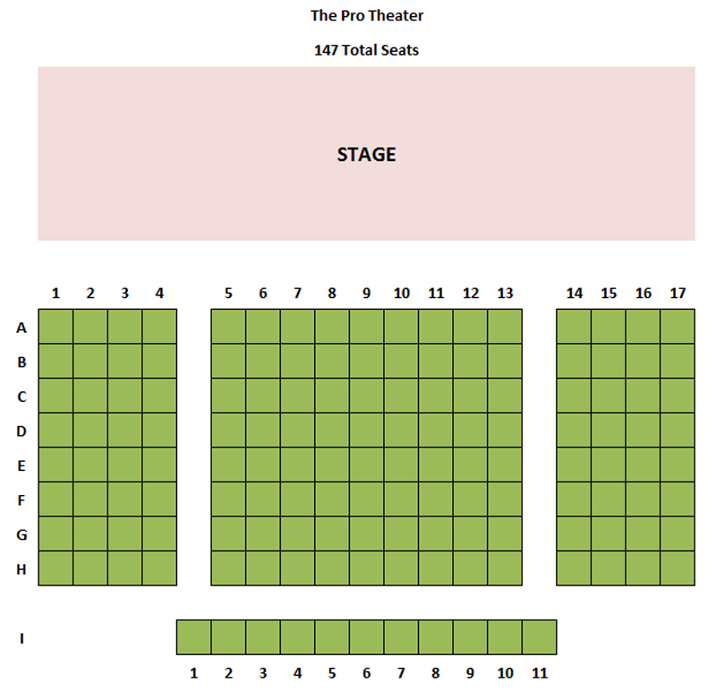 Stage 773 Pro Theater Seating Chart