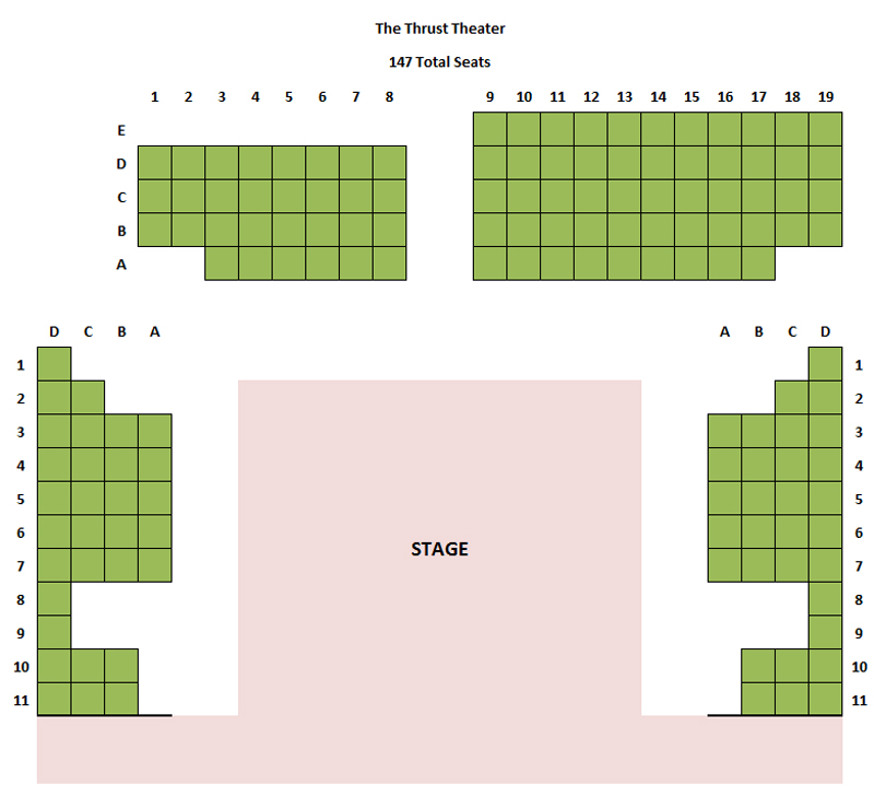 Stage 773 Thrust Theater Seating Chart