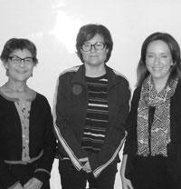Hallie Gordon, Marilyn Halperin and Nicole O'Connell